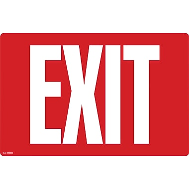 Cosco® Exit Sign - Glow in the Dark, 8
