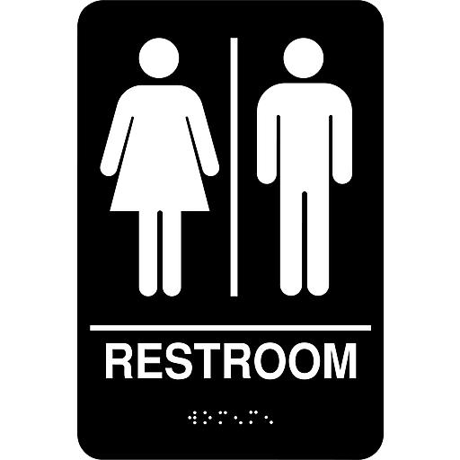 "Cosco® ADA Restroom Sign, Unisex, 6"" x 9"" | Staples"