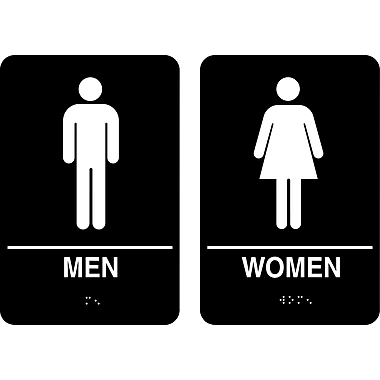 Cosco 174 Ada Restroom Signs Men Women 6 Quot X 9 Quot Staples 174