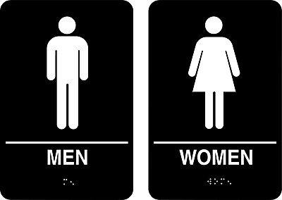 mens and womens bathroom signs. Https://www.staples-3p.com/s7/is/ Mens And Womens Bathroom Signs A