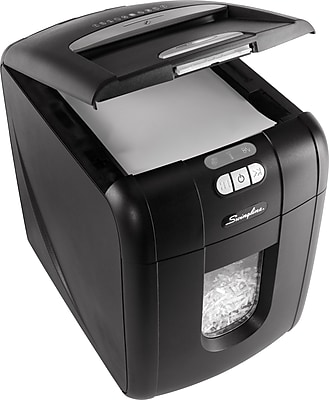 Swingline® Stack-and-Shred™ 130X Auto Feed Shredder, Super Cross-Cut, 130 Sheets (1757571)