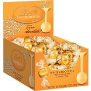 Lindt LINDOR Chocolate Truffles, White Chocolate, 60 Truffles/Box