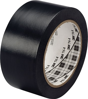 3M™ #764 Solid Vinyl Tape, Black, 1