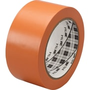"3M™ 764 Vinyl Tape, 1"" x 36 yds, Orange, 36/Case"
