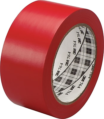 3M™ #764 Solid Vinyl Tape, Red, 1
