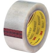 "Scotch® #355 Hot Melt Packing Tape, 2"" x 55 Yards, Clear, 6/Pack"