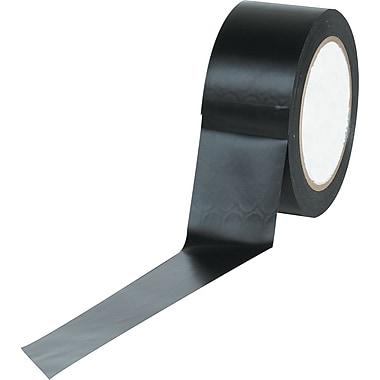 Industrial Vinyl Safety Tape, Solid Black, 3