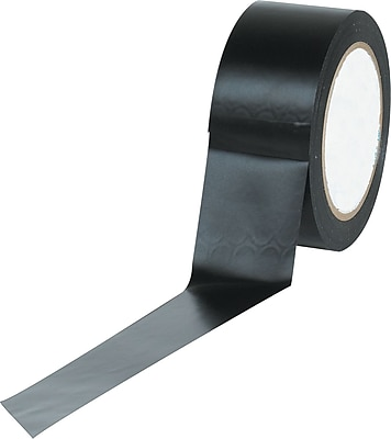 Industrial Vinyl Safety Tape, Solid Black, 3