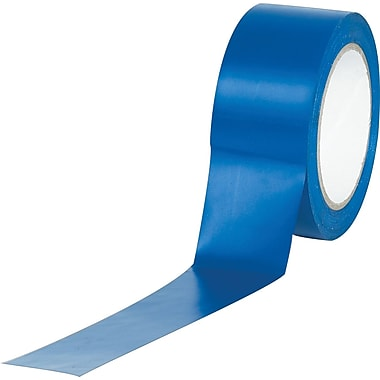 Industrial Vinyl Safety Tape, Solid Blue, 3