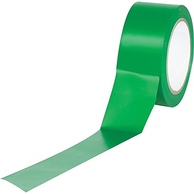 Industrial Vinyl Safety Tape, Solid Green, 3
