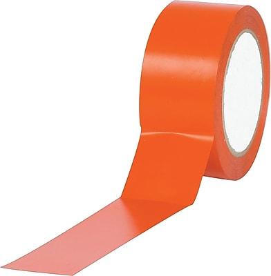 Industrial Vinyl Safety Tape, Solid Orange, 2