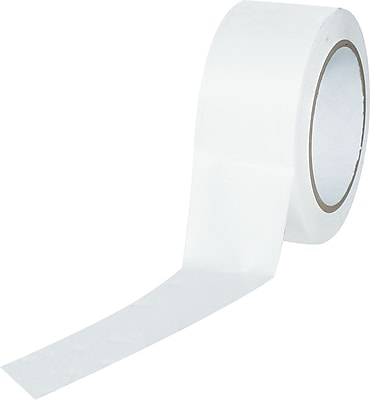 Industrial Vinyl Safety Tape, Solid White, 3