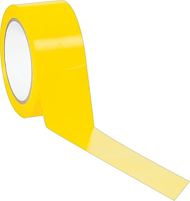 """Industrial Vinyl Safety Tape, Solid Yellow, 2"""" x 36yds., 24/Case"""