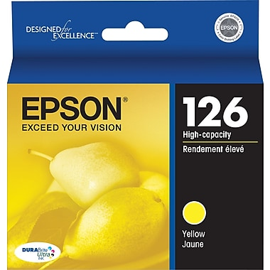 Epson 126 Yellow Ink Cartridge (T126420), High Yield