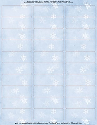 Great Papers® Winter Flakes Mailing Labels, 1