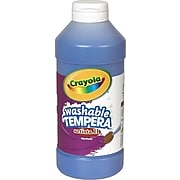 Crayola Artista II Washable Tempera Paint, Blue, 16 oz. (54-3115-042)