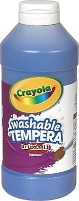 Binney & Smith Crayola® Artista II Washable Tempera Paint, Blue, 16 oz.