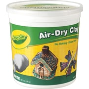 Binney & Smith Crayola® Air-Dry Clay, White, 5 lb. Bucket (57-5055)