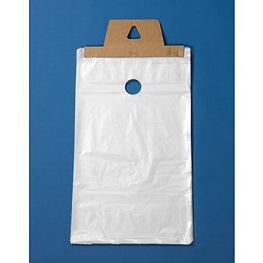 Newspaper and Magazine Bags with Doorknob Hang Hole, High-Density, Clear, 6-1/2