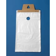 "Newspaper and Magazine Bags with Doorknob Hang Hole, High-Density, Clear, 5-1/2"" x 16"", 2,000/Case"