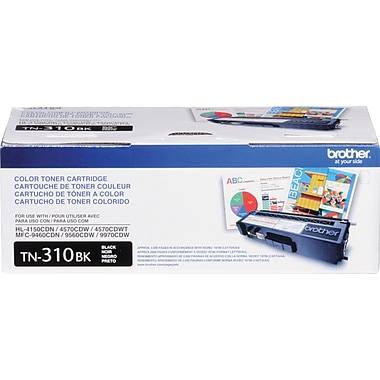 Brother Genuine TN310BK Black Original Laser Toner Cartridge