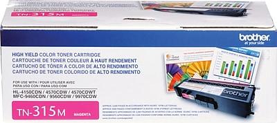 Brother Genuine TN315M Magenta High Yield Original Laser Toner Cartridge