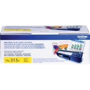 Brother Genuine TN315Y Yellow High Yield Original Laser Toner Cartridge