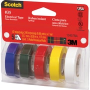 "Scotch® #35 Vinyl Electrical Tape, 1/2"" x 6.66 Yds. (12 mm x 6 m), 7-mil"