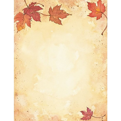 great papers holiday stationery fall leaves 80 count staples