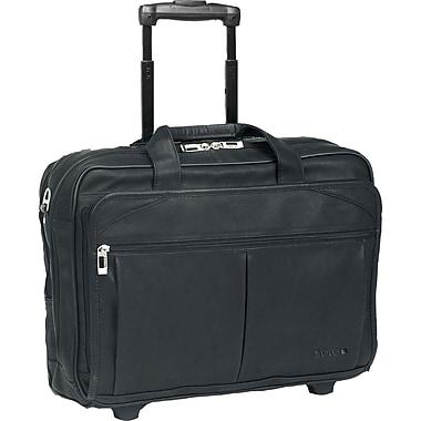 Solo Executive Leather Rolling Laptop Case , Black (D529-4)