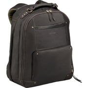 SOLO® Vintage Collection Leather Laptop Backpack, Espresso, 15.6""