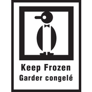 "International Safe Handling Label, ""Keep Frozen"", Bilingual, 3"" x 4"", 500/Roll"