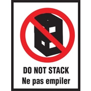 "International Safe Handling Label, ""Do Not Stack"", Bilingual, 3"" x 4"", 500/Roll"