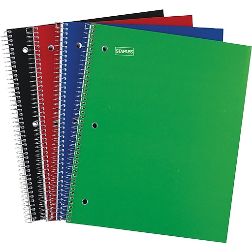 "Staples 1 Subject Notebook, 8-1/2"" x 11"", 48 pack"