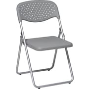 Office Star™ Ventilated Folding Chair, Grey, 4/Pack