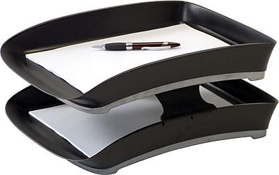 Storex Durable Plastic Letter Tray, 2.75