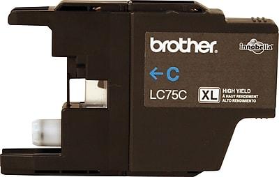 Brother Genuine LC75C Cyan High Yield Original Ink Cartridge