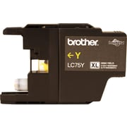 Brother Genuine LC75Y Yellow High Yield Original Ink Cartridge