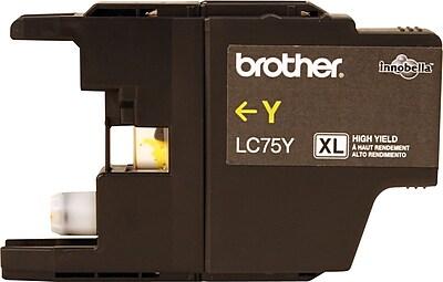 Brother Genuine LC75Y Yellow High Yield Original Ink Cartridge