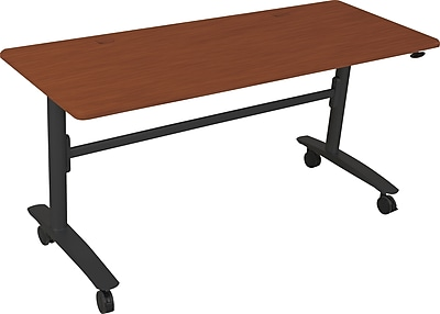 Balt Lumina 60'' Rectangular Flip Top Training Table, Cherry (90064)