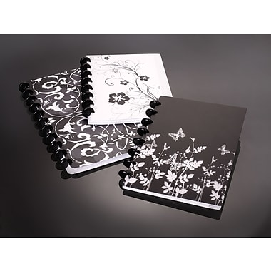 M by Staples™ - Cahier de notes personnalisable Arc en poly, 120 pages, 11 po x 8,5 po, motifs variés