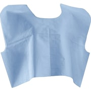 "Medline® Disposable Patient Capes, Blue, 30""x21"""