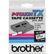 "Brother® P-Touch TX 1/2"" Tape Black on Clear, 50', TX1311"
