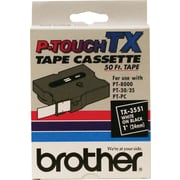 "Brother TX3351 1"" Tape, White on Black"