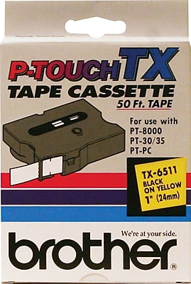 Brother® TX Series Laminated Label Tape, 1