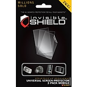 Zagg® invisible Shield® Screen Protector For Cellular Phone, Clear, 3/Pack (FFUNIPRO3PKS)