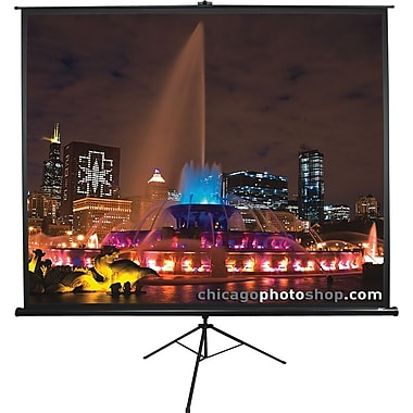 Elite ScreensMD – Écran de projection à trépied de la série Tripod, diagonale de 85 po, rapport hauteur/largeur de 1:1 (noir)