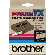 "Brother 1/2"" White on Clear tape"