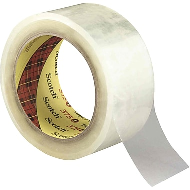 3M - Ruban Scotch 375, 2 po x 55 vg (48 mm x 50 m), de 3,1 mil, transparent