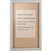 Ghent® 2' x 3' Outdoor Enclosed Bulletin Board with Aluminum Frame